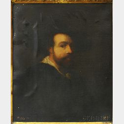 After Peter Paul Rubens (Flemish, 1577-1640)      Copy of the Self Portrait by Rubens of 1623.