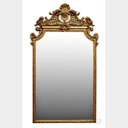 George III-style Ornately Carved Gilt-gesso Looking Glass