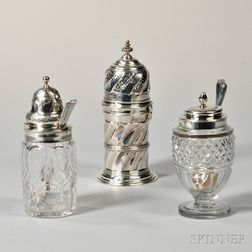 Three Pieces of English Sterling Silver Tableware