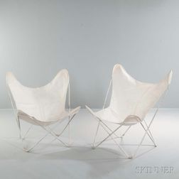 Two Jorge Ferrari-Hardoy for Knoll Butterfly Chairs