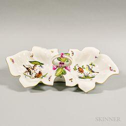 Herend Porcelain Handled Serving Dish