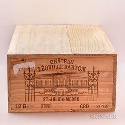 Chateau Leoville Barton 2012, 12 bottles (owc)