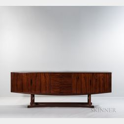 Johannes Andersen for Hans Bech Model HB 20 Rosewood Sideboard