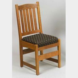 L. & J. G. Stickley Oak Side Chair, ,