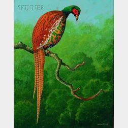 Benson Bond Moore (American, 1882-1974)      Lot of Two Works:  Florida Heron