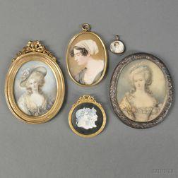 Five Portrait Miniatures