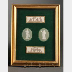 Framed Wedgwood Jasper Plaque Group