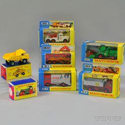 Seven Matchbox Toys Die-cast Metal King-size Vehicles