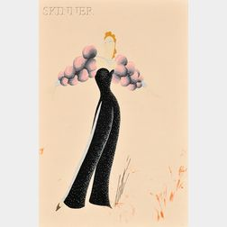 Romain de Tirtoff, called Erté (Russian/French, 1892-1990)      Costume Design for La Star   in Pin-Up Girls Revue