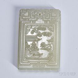 Nephrite Jade Plaque