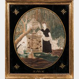 Needlework Mourning Picture for Elizabeth Peck