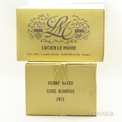 Hospices de Beaune (Lucien Le Moine) Volnay Cuvee Blondeau 2013, 12 bottles (2 x oc)