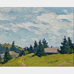 Margaret Jordan Patterson (American, 1867-1950)      Hillside Landscape