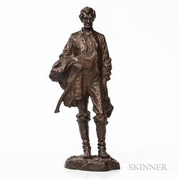 Bronze Sculpture of Abraham Lincoln as a Rail Splitter