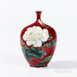 Akasuke Ginbari Cloisonné Vase