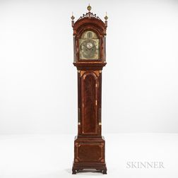 Inlaid Mahogany Ellicott Signed Longcase Clock