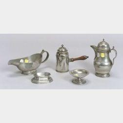 Ten Continental Pewter Tablewares