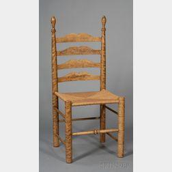 Turned Figured Maple Slat-back Side Chair