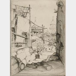 John Taylor Arms (American, 1887-1953)      La Chiesa, Borgio