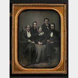 Full Plate Daguerreotype Family Portrait