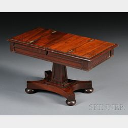 Victorian Miniature Table-form Mahogany Inkstand