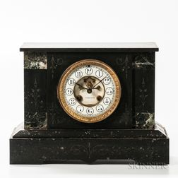 E.N. Welch Co. Black Slate Mantel Clock