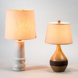 Two Gordon and Jane Martz for Marshall Studios Ceramic Table Lamps