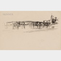James Abbott McNeill Whistler (American, 1834-1903)      Little Putney Bridge