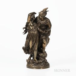 After Jean Louis Gregoire (French, 1840-1890)       Bronze Depiction of Perseus and Andromeda