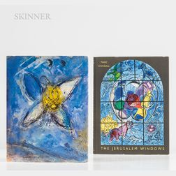 Two Art Reference Books: Marc Chagall (Russian/French, 1887-1985)      The Jerusalem Windows