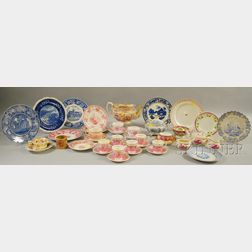 Approximately Thirty-eight Pieces of English Staffordshire Ceramic Tableware