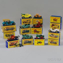 Thirteen Matchbox Toys Models of Yesteryear Vehicles