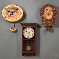 Three Advertising Clocks