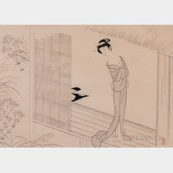 Settai Komura (1887-1940), Ink Woodblock Print