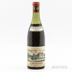 Chanson Chambolle Musigny 1969, 1 bottle