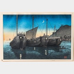 Takahashi Hiroaki (Shotei, 1871-1945) Inatori Bay in Izu
