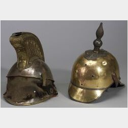 Two Continental Officer's Helmets