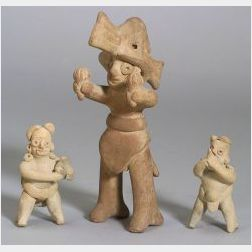 Three Pre-Columbian Pottery Musician Figures
