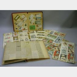 Two Scrap Albums and Assorted Trade Cards