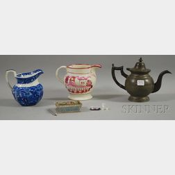 Four Assorted Decorative Table Items