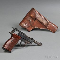 Walther P-38 Pistol, Holster, and Spare Magazine
