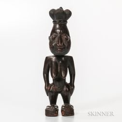 Carved Wood Female Figure