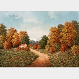 Eugeniusz Wiszniewski (Polish, b. 1942)      Autumn Landscape