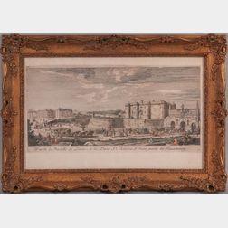 After Jacques Rigaud (French, c. 1671/91-1754)      Vue de la Bastille de Paria, de la Porte St. Antoine, et d'une partie du Fauxbourg