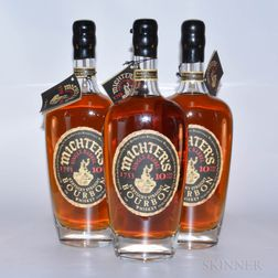 Michters Bourbon 10 Years Old, 3 750ml bottles