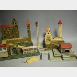 Painted Wood German Village Play Set