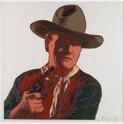 Andy Warhol (American, 1928-1987)  John Wayne from COWBOYS AND INDIANS