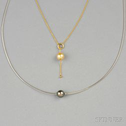 Two Pearl Necklaces, Mikimoto