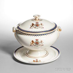 Wedgwood Queen's Ware Soup Tureen, Cover, and Stand