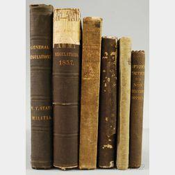 Six 19th Century U.S. Military Related Books